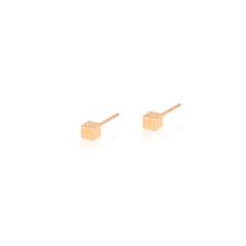18K素金耳釘