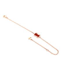 18K紅瑪瑙鑽石手鍊